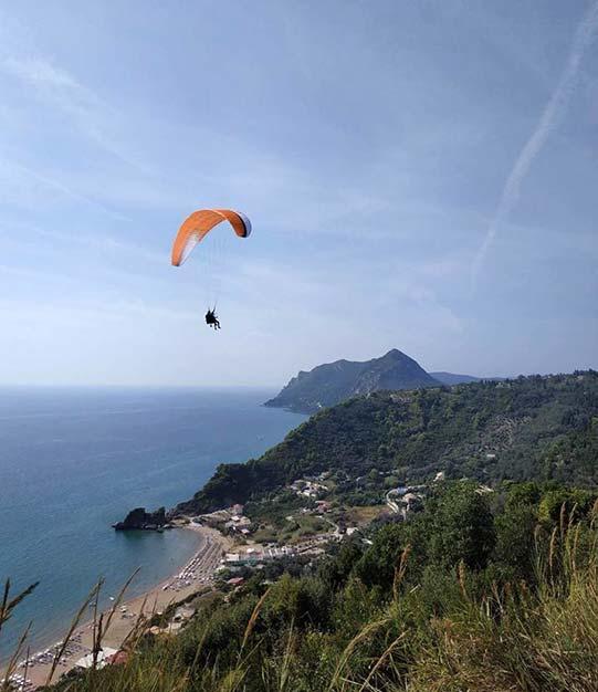 Pelekas | Corfu Paragliding | Tandem Flights Corfu